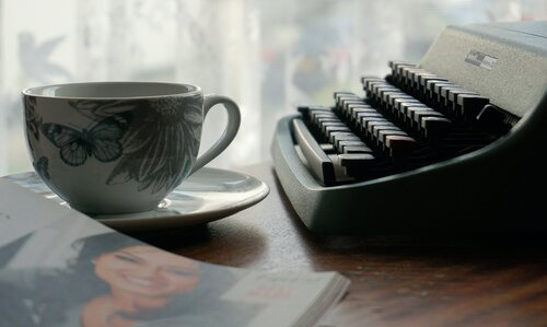TYPEWRITERS: Writing stories and letters.